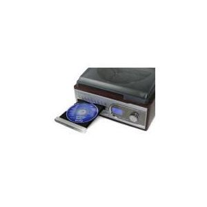 Auna TC-983 - Mini chaîne hifi platine tourne disque CD MP3 SD USB FM