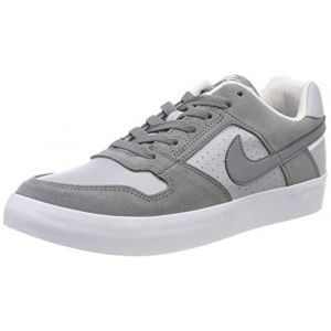 Nike SB Delta Force Vulc, Chaussures de Skateboard Homme, Gris Cool Wolf Grey-White 001, 42.5 EU