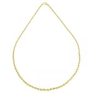 Rêve de diamants CDMC428 - Collier en or jaune 375/1000 maille corde chute
