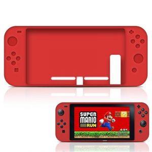 Straße Game Housse Étui Silicone De Protection Pour Console Nintendo Switch - Rouge