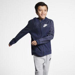 Nike Sweat à capuche entièrement zippé Sportswear Advance 15 pour Garçon plus âgé - Bleu - Couleur Bleu - Taille S