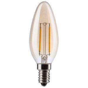 Müller-Licht Müller Licht LED EEC A+ (A++ - E) E14 en forme de bougie 2.2 W = 17 W or (Ø x L) 35 mm x 99 mm à filament 1 pc(s)