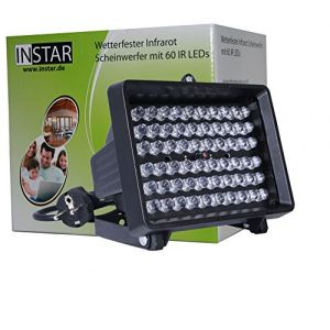 Instar IN-905 V2 Projecteur Infrarouge à LED 940nm, 80°, Noir