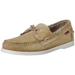 Sebago Docksides Slip on Shoes 41 EU Beige Camel Suede