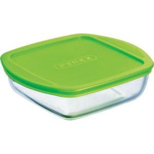 Pyrex 212P000/5045 - Plat carré couvercle plastique