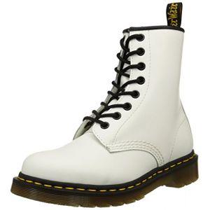 Dr. Martens 1460, Boots mixte adulte - Blanc (1460 Smooth 59 Last WHITE) 36 EU