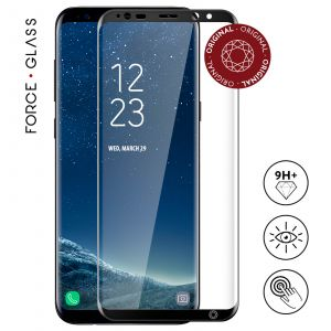 Force glass FGGS8PORIGINALB - Protection écran en verre trempé pour Samsung Galaxy S8 Plus