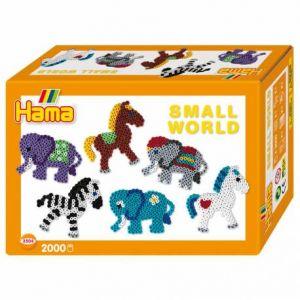 """Hama Boîte de perles moyennes """"Le monde miniature du zoo"""""""