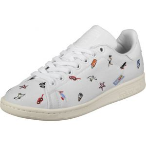Adidas Stan Smith, Baskets Mode Femme, Blanc (Footwear White/Footwear White/Off White), 37 1/3 EU