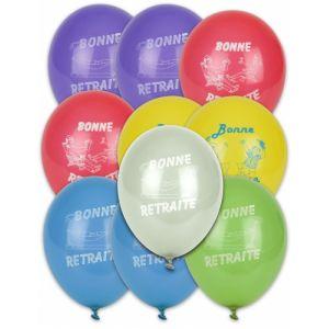 10 ballons Bonne Retraite