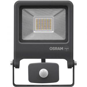 Osram Projecteur Extérieur LED ENDURA FLOOD - Détecteur de Mouvement - Etanche IP44 - 30W - 2400 lumen - Orientable 180° - Blanc froid 4000K - Gris Anthracite