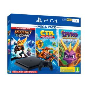 Sony PS4 1 To Crash Team Racing + Spyro + RC Hits - noire