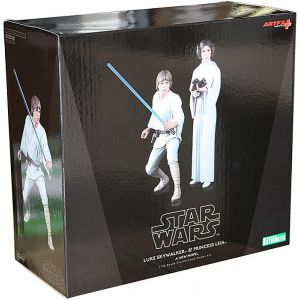 Kotobukiya Luke Skywalker & Princess Leia Artfx 16cm