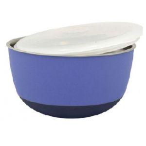 Duvo Mangeoire avec couvercle Matte Balance - Ø19,5 cm - 1600 ml - Mauve - Pour chien et chat