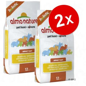 Almo Nature Holistic Adult Poisson blanc/Riz - Sac 12 kg