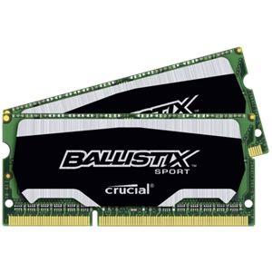 Crucial BLS2C8G3N18AES4CEU - Barrette mémoire Ballistix Sport 16 Go (2 x 8 Go) DDR3 SO DIMM 1866 MHz 204 broches