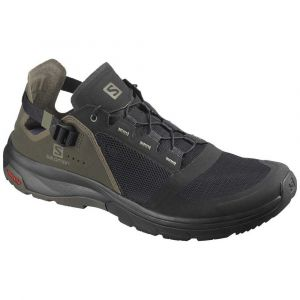 Salomon Tech Amphib 4 Bk/Beluga/Castor Gra Chaussures de randonnée Homme