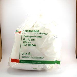 Lohmann & Rauscher Cotopads rectangles coton 8 x 10 cm 200 pièces