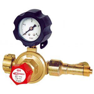 Guilbert Express 694 - Détendeur pour gaz propane, pression variable 2/4 bars, avec sécurité et manomètre