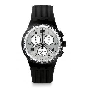 Swatch Homme Digital Quartz Montre avec Bracelet en Silicone SUSB103