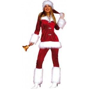 Smiffy's Déguisement de Noël Miss Santa (taille 38)