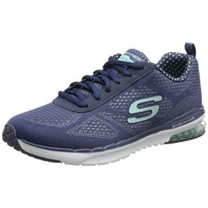 Skechers Air Infinity, Multisport Outdoor Femme, Bleu (Navy/Aqua), 36 EU