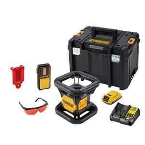 Dewalt Niveau laser rotatif double pente intérieur 18 Volts DCE074D1R