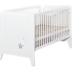 Noukies Lit bébé transformable Poudre d'étoiles 140 x 70 cm