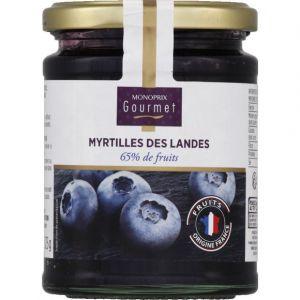 Image de Monoprix gourmet Confiture aux myrtilles des Landes, 65% de fruits
