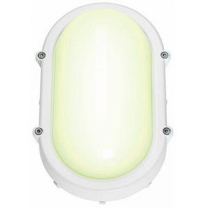 SLV TERANG applique et plafonnier, ovale, gris argent, 8W LED, 3000K DECLIC