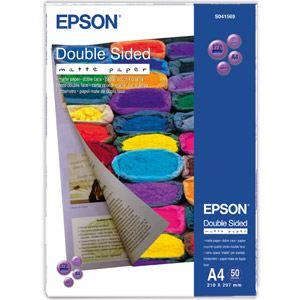 Epson 50 feuilles de papier photographique mat double face 178g/m² (A4)
