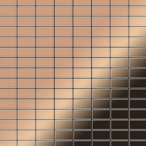 Alloy Mosaïque métal massif Carrelage Cuivre laminé cuivre Grosseur 1,6mm Bauhaus-CM 1,05 m2