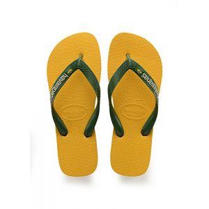 Havaianas Brasil Logo, Tongs Mixte Adulte, Jaune (Banana Yellow), 41/42 EU (39/40 Brazilian)