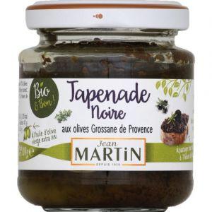 Jean martin Tapenade noire aux olives grossane de Provence bio
