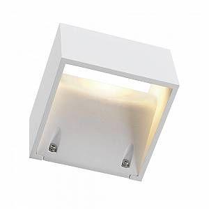 SLV LOGS WALL applique, carrée, blanc, 6W LED, blanc chaud DECLIC