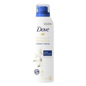 Dove Nutrition Intense Gel Douche Mousse à l'Huile de Coton 24h de Douceur Douche & Rasage 200 ML