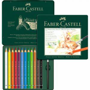 Faber-Castell 12 crayons de couleurs aquarellables A.Durer Magnus - Boite métal