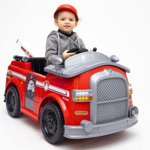 E-Road PAT PATROUILLE Voiture Electrique Camion de Pompier Marcus + Télécommande parentale - Exclusivité Cdiscount