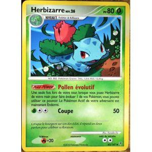 Asmodée Herbizarre - Carte Pokémon 62/147 Série platine