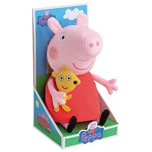 Jemini Peluche Peppa Pig 25 cm avec doudou