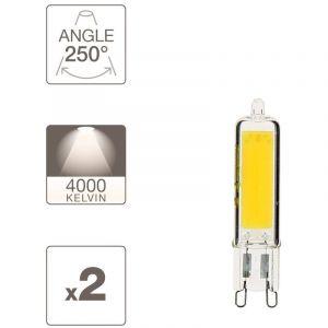 Xanlite Pack de 2 ampoules RetroLED, culot G9, 3,7W cons. (450 lumens), lumière blanche neutre