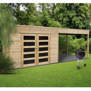 Solid Abri de jardin en bois traité autoclave Salerno - 5,40 m²