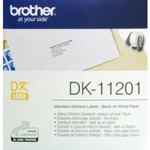 Brother DK11201 - 400 étiquettes adresses autocollante (2,9 x 9,0 cm)