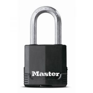 Master Lock Cadenas haute sécurité acier laminé - Anse 38 mm - Longueur 48 mm