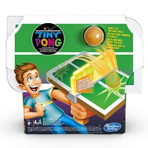 Hasbro Tiny Pong - Jeu de societe Ping-Pong - Jeu électronique de tennis de table - Version française