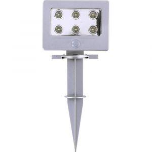 Grundig Lampadaire LED extérieur argent