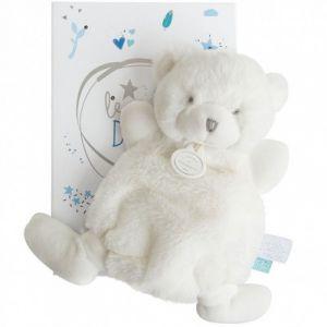 Doudou & cie Doudou plat ours bleu Le Doudou 19 cm