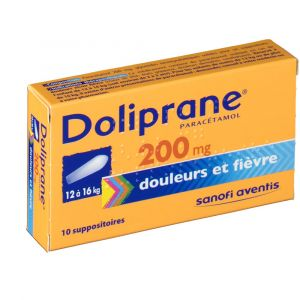 Sanofi Doliprane 200 mg - 10 Suppositoires
