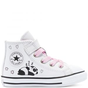 Converse Toddler's Notes from BFF Easy-On Chuck Taylor All Star High Top White/Black/Pink Glaze 24 (1 a 3 ans et demi)