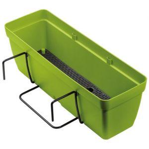 Deroma Kit de Jardinière Enjoy à réserve d'eau - 9,6 L - 50 x 16,1 x H 16 cm - Vert olive